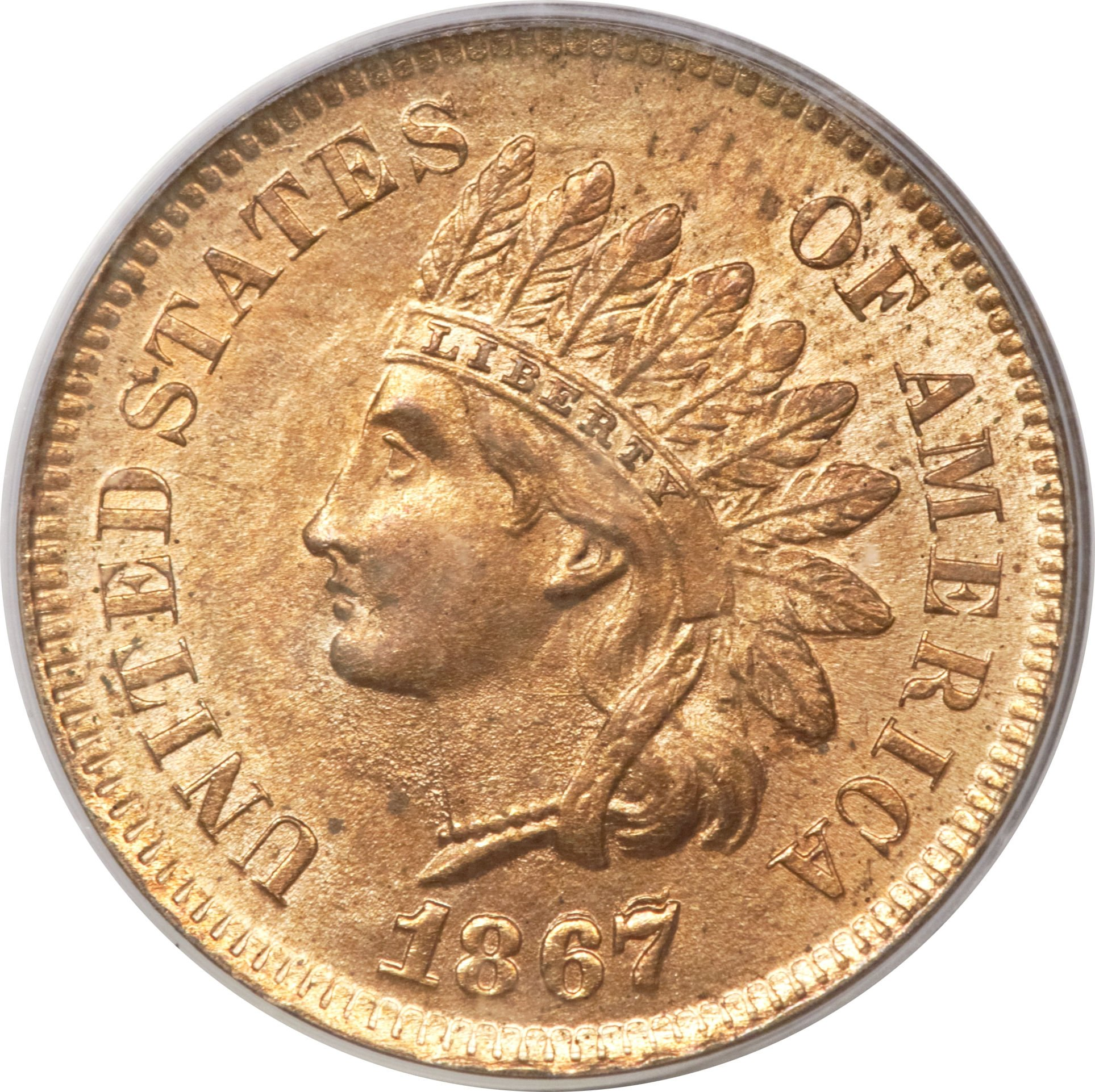 1867 RPD-001 Indian Head Penny - Photo Courtesy of Heritage Auctions