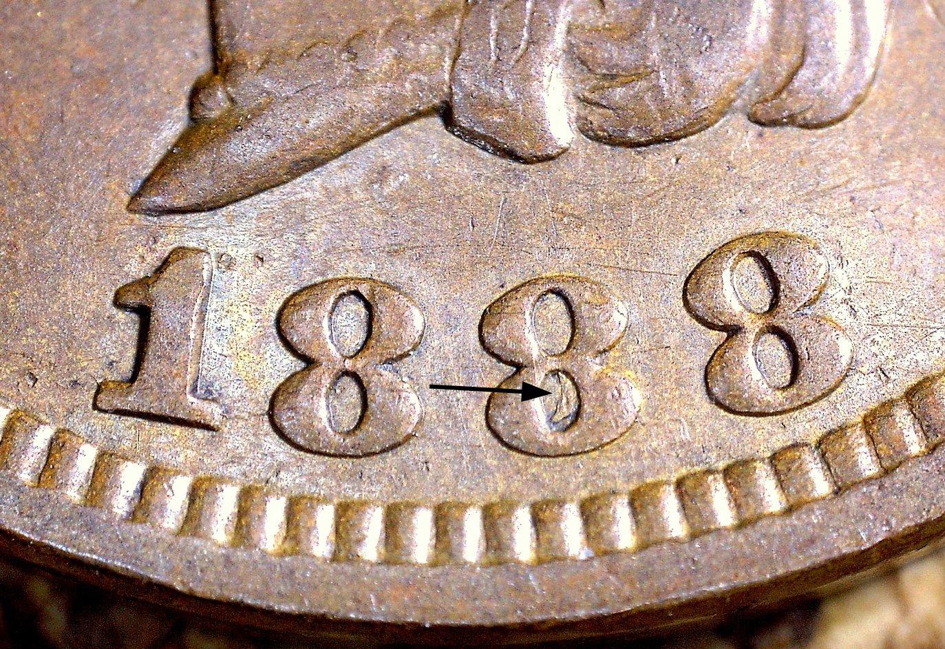 1888 RPD-015 - Indian Head Penny - Photo by David Killough