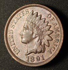 1891 RPD-003 - Indian Head Penny - Photo by Ed Nathanson