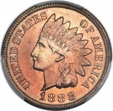 1888 RPD-003 Indian Head Penny - Photos courtesy of Heritage Auctions