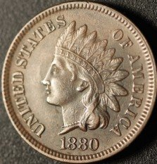 1880 PUN-005 - Indian Head Cent - Photo by Ed Nathanson