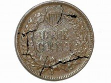 1883 CRK-001 - Indian Head Penny - Photo by David Poliquin