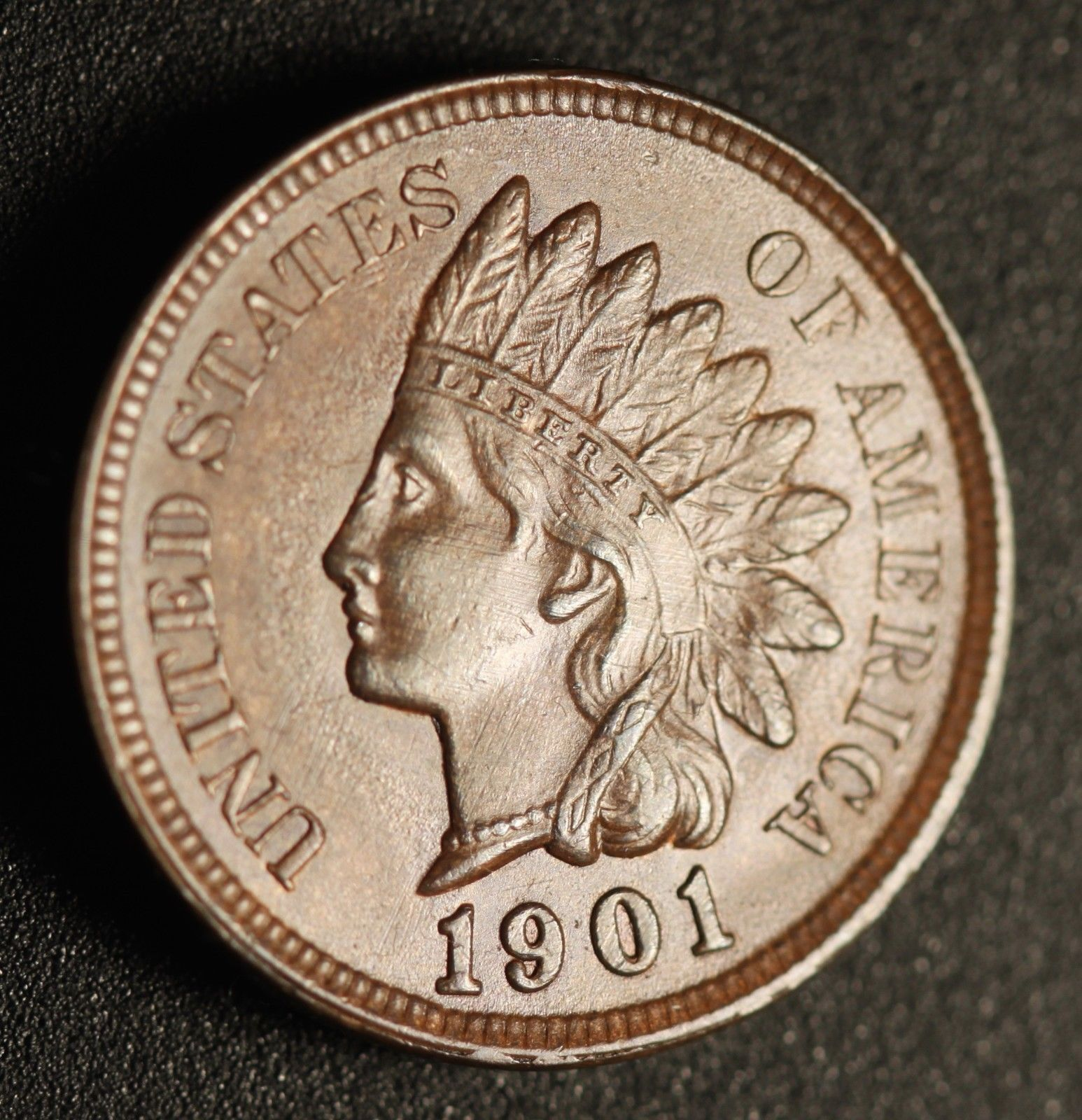 1901 RPD-023 - Indian Head Penny - Photo by Ed Nathanson
