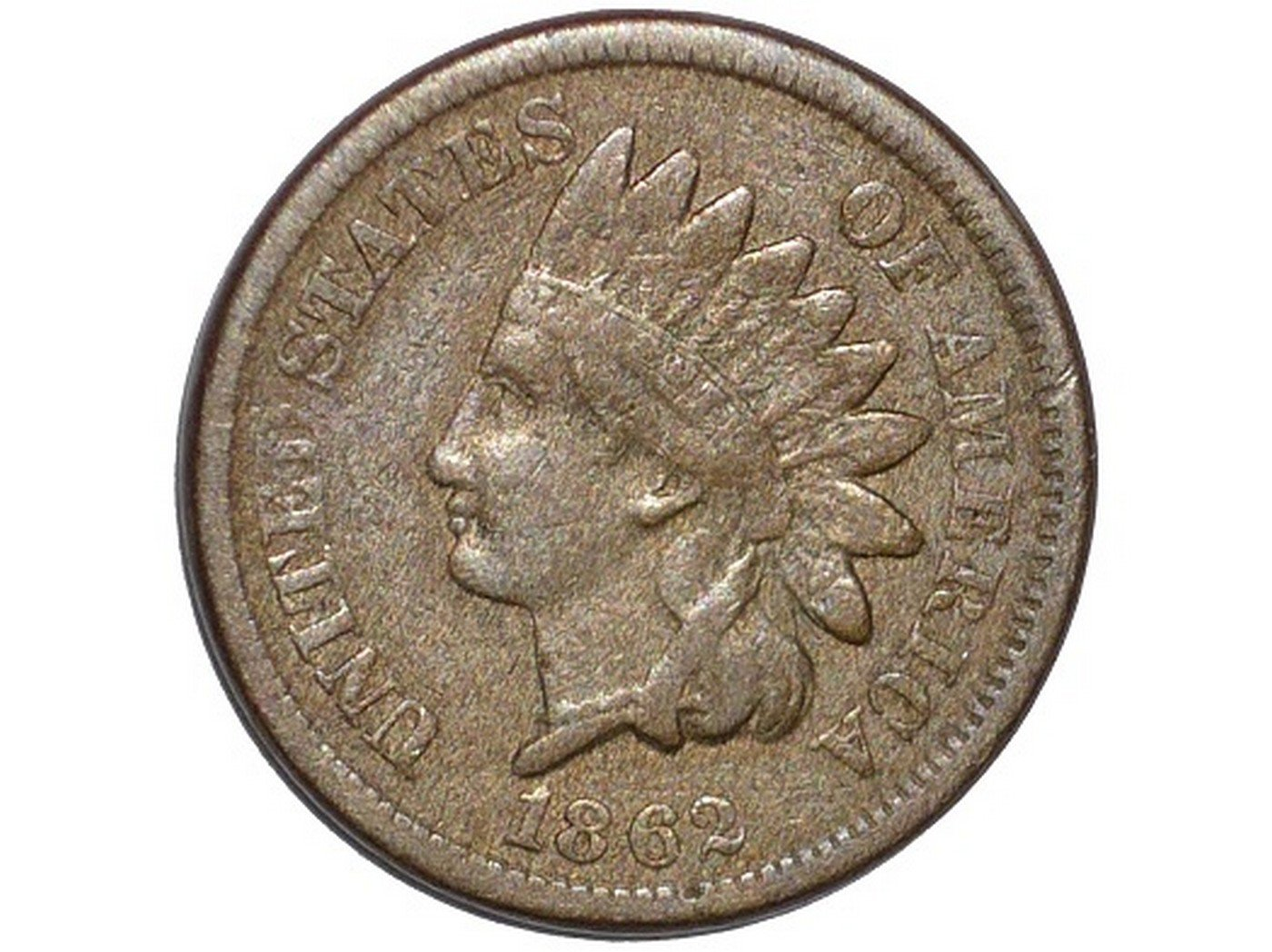 1862 Obverse of CUD-014 - Indian Head Penny - Photo by David Poliquin