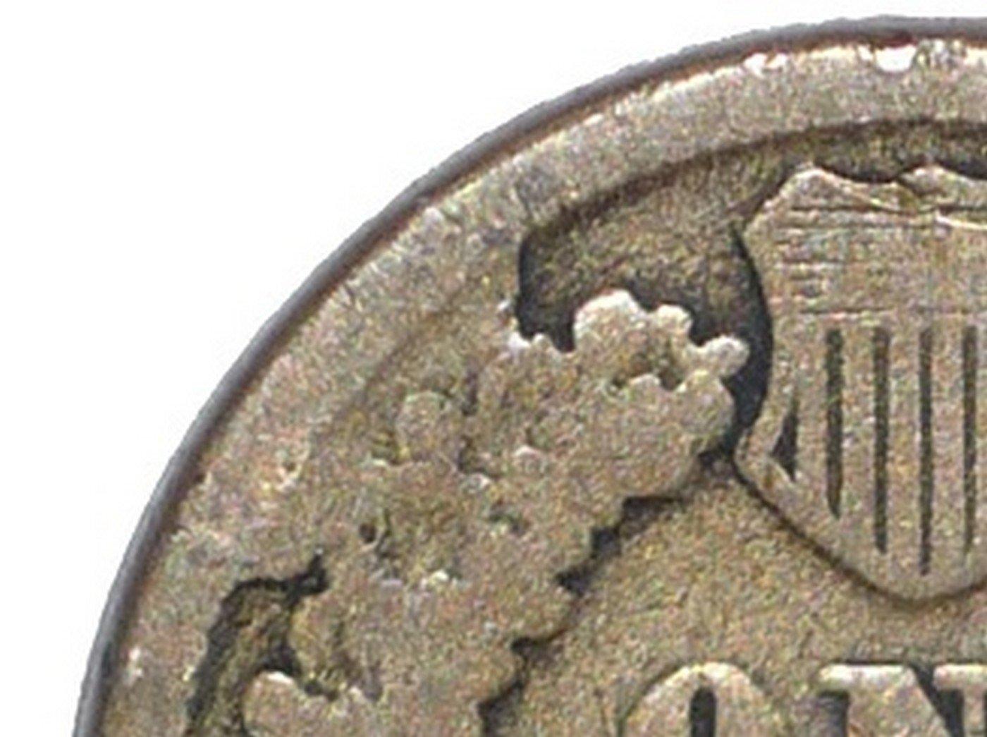 1863 ODD-008, CUD-019 - Indian Head Penny - Photo by David Poliquin