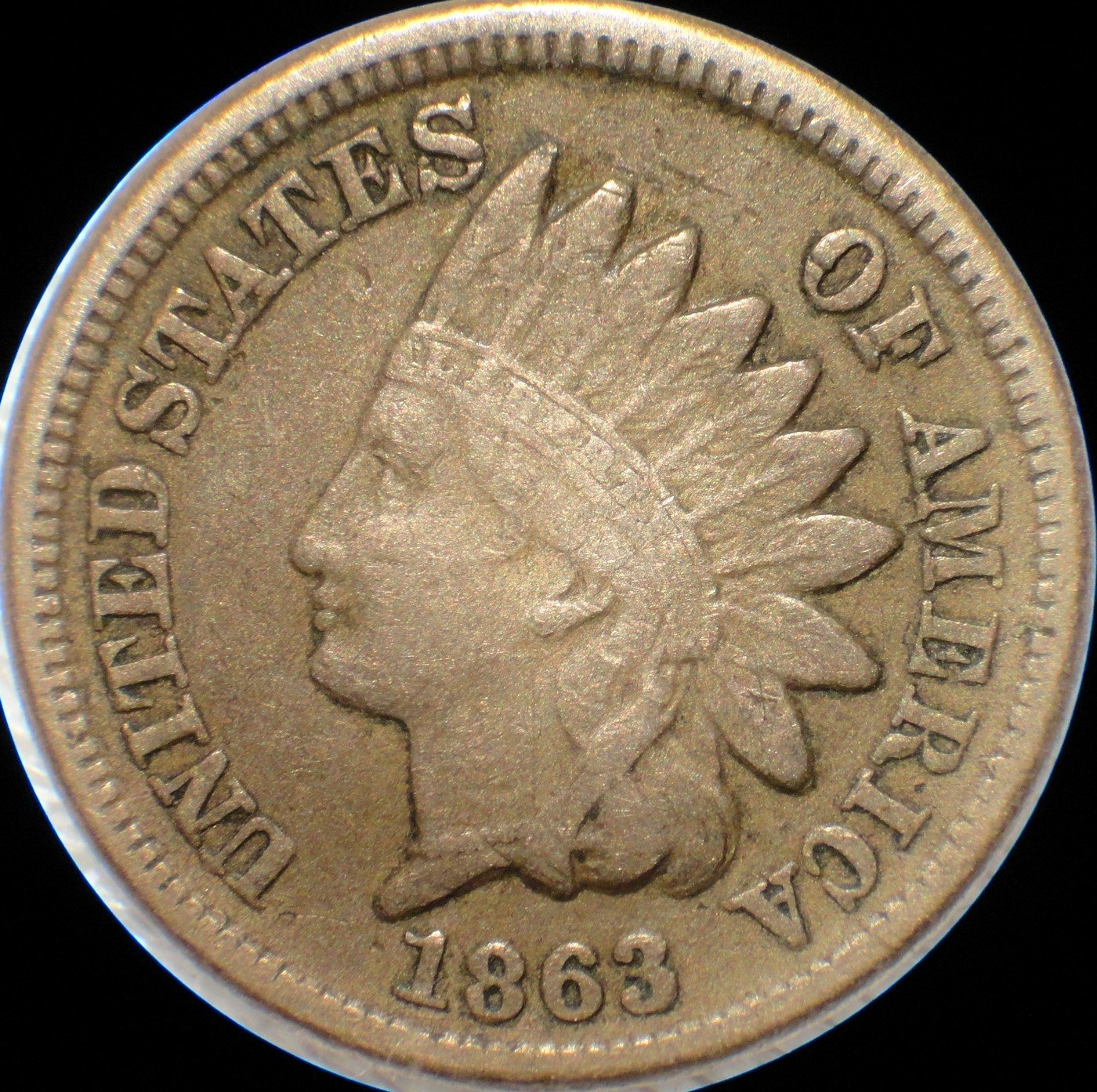 1863 Obverse of CRK-002 - Indian Head Penny