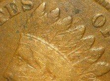 1865 Fancy 5 ODD-001 - Indian Head Penny - Photo by David Poliquin