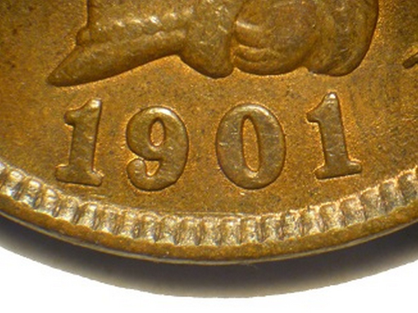 1901 RPD-023 - Indian Head Penny - Photo by David Poliquin